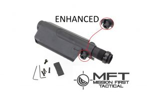 AR/AK Enhanced Pistol Cheek Rest Kit W/MFT Saddle (Black)