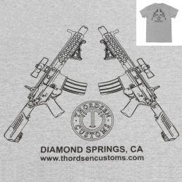 AR Pistol Logo Grey T-Shirts